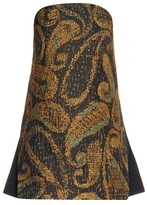 Ellery Sound and Vision paisley-jacquard strapless top