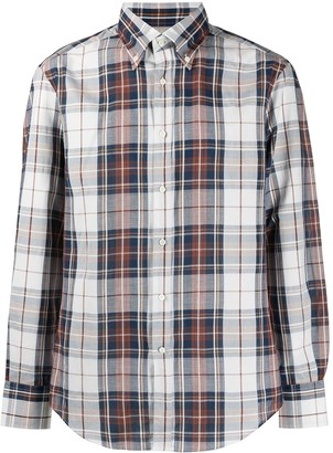 Brunello Cucinelli Check Long-Sleeve Shirt