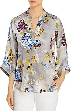 Go Silk Go by Bella Floral Print Silk Tunic