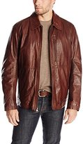 Andrew Marc Men's Macdougal Calf Leather Shirt Collar Jacket