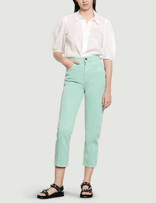 Sandro Micky high-rise straight jeans