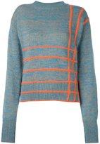 Marco De Vincenzo checked jumper - women - Wool/Angora/Mohair/Polyester - 38