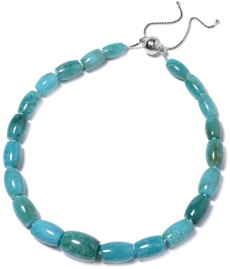 Shop Lc Bead Amazonite Strand Necklace Sterling Silver Size 18 Inch ct 653.51 - Size 18''