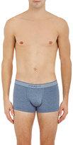 Zimmerli Men's Low-Cut Boxer Briefs-BLUE