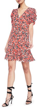 Parker Corrine Floral Silk Minidress