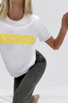 French Connection Femme Boyfit Graphic T-Shirt
