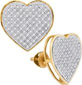 DazzlingRock Collection 1/2 Total Carat Weight DIAMOND HEART EARRINGS