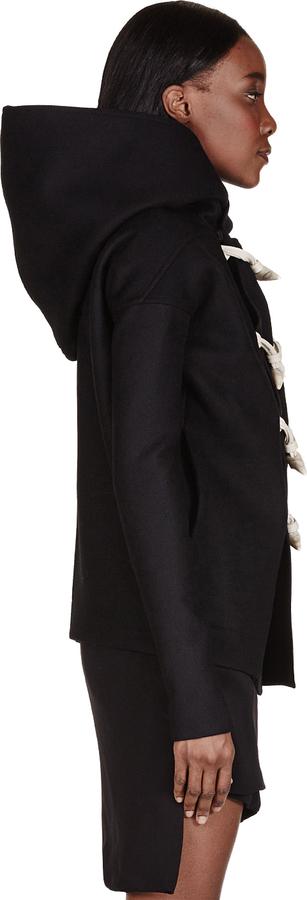 Rick Owens Black Bone Toggle Jacket