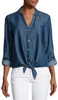 Soft Joie Crysta Chambray Tie-Hem Shirt