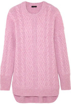 J.Crew Norton Cable-knit Cashmere And Mohair-blend Tunic - Pink