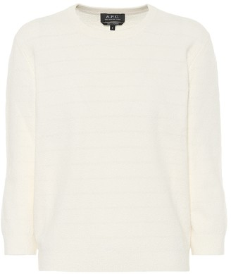 A.P.C. Zoe cotton-blend terrycloth sweater