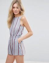 Glamorous Striped Romper