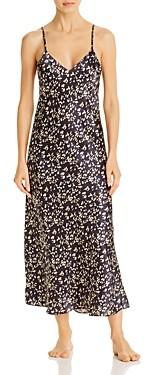 Ginia Silk Printed Long Nightgown