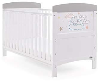 O Baby Tiny Tatty Teddy Cot Bed, Grey