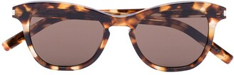 Saint Laurent Havana frame tortoiseshell sunglasses