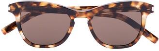 Saint Laurent Eyewear Havana frame tortoiseshell sunglasses