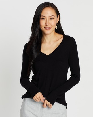 SABA Women's Jumpers & Cardigans - Laura V-Neck Knit - Size One Size, XXS at The Iconic