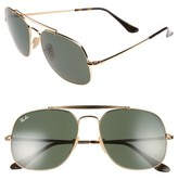 Ray-Ban Women's 57Mm Aviator Sunglasses - Bronze