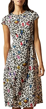 Ted Baker Animal And Floral Print Short-Sleeve Dress