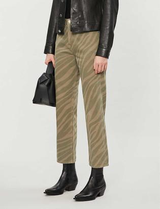 Rag & Bone Maya zebra-print mid-rise straight-leg jeans