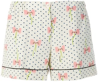 Miu Miu bow print shorts