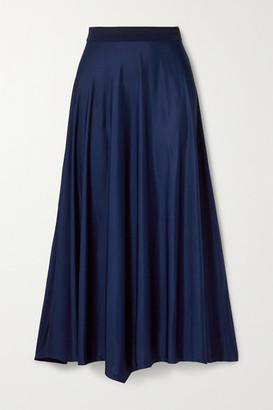 By Malene Birger Cayenne Asymmetric Satin Midi Skirt - Blue