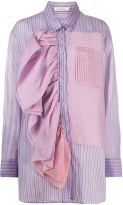 Nina Ricci Asymmetric Striped Shirt