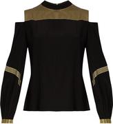 ZEUS + DIONE Clio cut-out shoulder silk cover-up