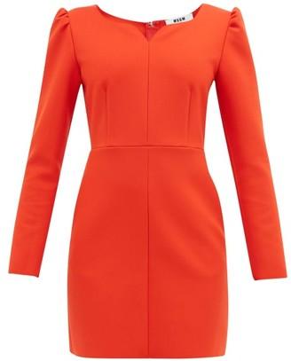 MSGM Sweetheart-neckline Cady Mini Dress - Womens - Red