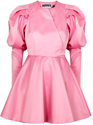 Rotate by Birger Christensen Pauline pink satin mini dress