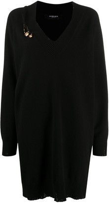 Versace Safety Pin knitted dress