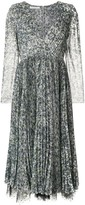 Philosophy di Lorenzo Serafini patterned lace-trimmed dress
