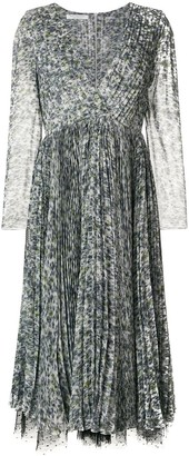 Philosophy di Lorenzo Serafini patterned lace-trimmed dress