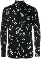 Saint Laurent Music Note Printed Shirt