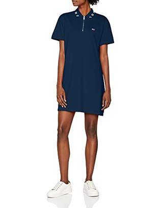 Tommy Jeans Women's Collar Detail Polo Short Sleeve Dress,Medium