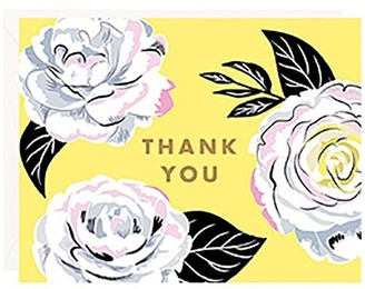 Waste Not Paper Thank You Cards Camellia Floral