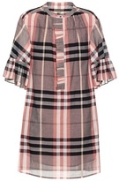 Burberry Elody plaid cotton dress