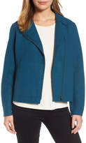 Eileen Fisher Boiled Wool Moto Jacket (Regular & Petite)