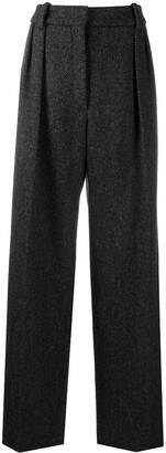 Valentino Tailored Herringbone Trousers