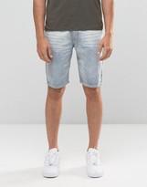 Bellfield Denim Shorts in Bleach Wash