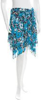 Diane von Furstenberg Silk Floral Mini Skirt