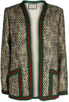 Gucci Web Stripe Trim Tweed Jacket