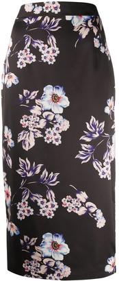 Blumarine Floral Printed Pencil Skirt