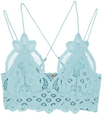 Free People Adella light blue lace bra top