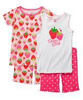 "Carter's Girls' 12M-4T Pink 4-pc. Strawberry ""Daddy's Girl"" Pajama Set"