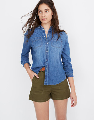 Madewell Denim Oversized Ex-Boyfriend Shirt in Hutcherson Wash