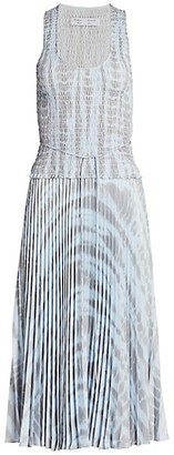 Proenza Schouler White Label Smocked Pleated Midi Dress