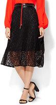 New York & Co. 7th Avenue Design Studio Midi Lace Flare Skirt
