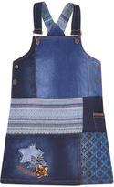 Desigual Patchwork jean dungaree dress