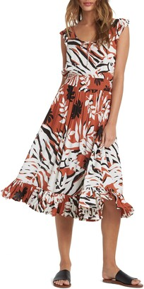Roxy Time To Skip Savanna Ruffle Dress